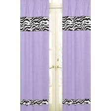 Zebra Curtain Panel (Set of 2)