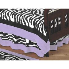 Zebra Purple Collection Toddler Bed Skirt