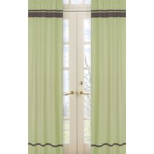 Hotel Cotton Rod Pocket Curtain Panel (Set of 2)