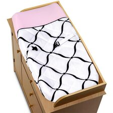 <strong>Sweet Jojo Designs</strong> Princess Black, White and Pink Collection Changing Pad Cover
