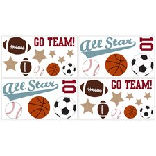All Star Sports Collection Wall Decal Stickers