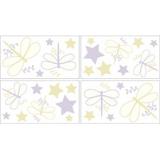Purple Dragonfly Dreams Collection Wall Decal Stickers