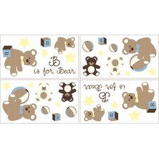 Teddy Bear Chocolate Collection Wall Decal Stickers