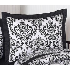 Isabella Black and White Standard Pillow Sham