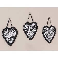 <strong>Sweet Jojo Designs</strong> Isabella Black and White Collection Wall Hangings (Set of 3)