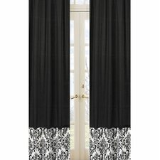<strong>Sweet Jojo Designs</strong> Isabella Hot Pink, Black and White Curtain Panel (Set of 2)