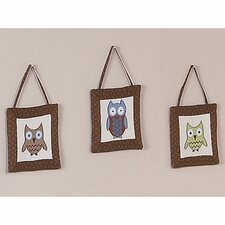 <strong>Sweet Jojo Designs</strong> Night Owl Collection Wall Hangings 3 Piece Set