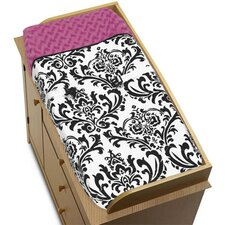 <strong>Sweet Jojo Designs</strong> Isabella Hot Pink, Black and White Collection Changing Pad Cover