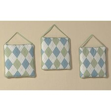<strong>Sweet Jojo Designs</strong> Argyle Green Blue Collection Wall Hangings
