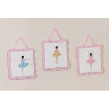 <strong>Sweet Jojo Designs</strong> Ballerina Collection Wall Hangings (Set of 3)