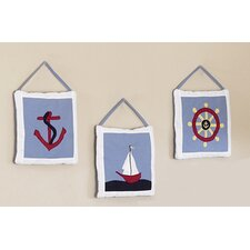 3 Piece Come Sail Away Hanging Art Set