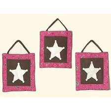 3 Piece Cowgirl Wall Hanging Set