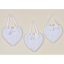<strong>Sweet Jojo Designs</strong> Eyelet White Collection Wall Hangings (Set of 3)