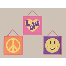 <strong>Sweet Jojo Designs</strong> Groovy Collection Wall Hangings 3 Piece Set