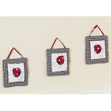 <strong>Sweet Jojo Designs</strong> Little Ladybug Collection Wall Hangings (Set of 3)