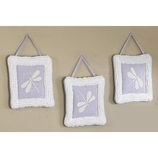 Purple Dragonfly Dreams Collection Wall Hangings (Set of 3)