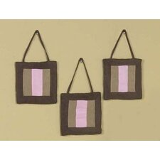 <strong>Sweet Jojo Designs</strong> Soho Pink and Brown Collection Wall Hangings (Set of 3)