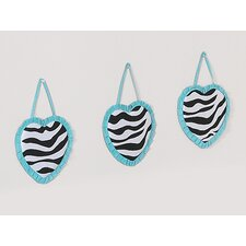 <strong>Sweet Jojo Designs</strong> Zebra Turquoise Collection Wall Hangings
