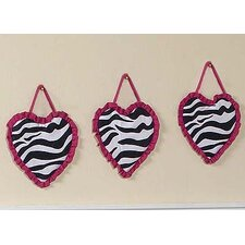 <strong>Sweet Jojo Designs</strong> Zebra Pink Collection Wall Hangings