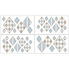 Argyle Wall Decal 4 piece set