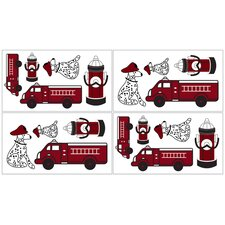 Frankie's Firetruck Wall Decal 4 piece set