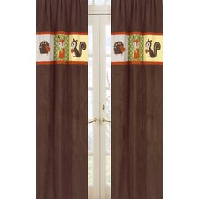 Forest Friends Rod Pocket Curtain Panel (Set of 2)