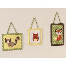 Forest Friends Collection Wall Hangings 3 Piece Set