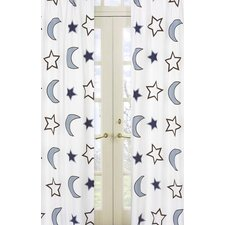 Starry Night Rod Pocket Curtain Panel (Set of 2)