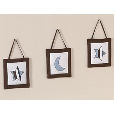 <strong>Sweet Jojo Designs</strong> Starry Night Collection Wall Hangings 3 Piece Set