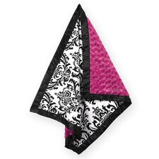 <strong>Sweet Jojo Designs</strong> Isabella Hot Pink, Black and White Collection Baby Blanket