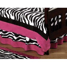 Zebra Pink Toddler Bed Skirt