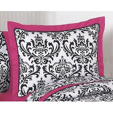 Isabella Hot Pink, Black and White Collection Standard Pillow Sham