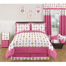 Happy Owl Collection 3pc Full/Queen Bedding Set