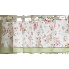 Riley's Roses Cotton Curtain Valance