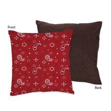 Wild West Cowboy Decorative Pillow with Bandana Print