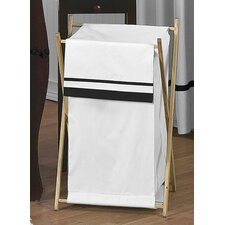 <strong>Sweet Jojo Designs</strong> Hotel White and Black Laundry Hamper