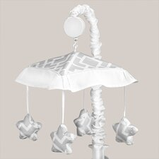 <strong>Sweet Jojo Designs</strong> Diamond Gray and White Collection Musical Mobile
