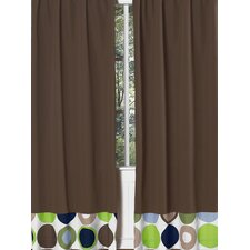 Chocolate Designer Dot Rod Pocket Curtain Panel Pair with Valances