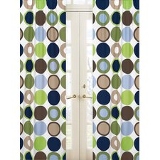 Designer Dot Rod Pocket Curtain Panel (Set of 2)