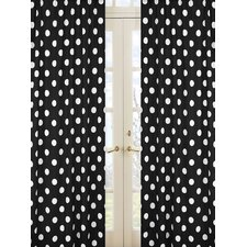 Hot Dot Cotton Rod Pocket Curtain Panel Pair with Valances