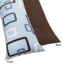 <strong>Sweet Jojo Designs</strong> Blue and Brown Geo Body Pillowcase