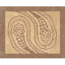 Camel Paisley Collection Floor Rug