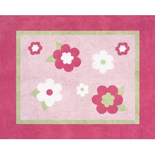 <strong>Sweet Jojo Designs</strong> Flower Pink and Green Collection Floor Rug