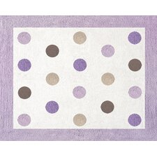 Mod Dots Purple Collection Floor Rug