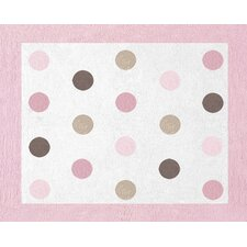 <strong>Sweet Jojo Designs</strong> Mod Dots Pink Collection Floor Rug