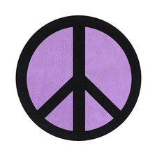 Peace Purple Collection Floor Rug