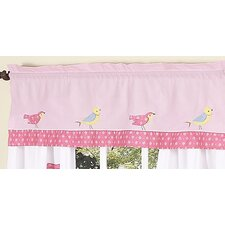 Song Bird Cotton Curtain Valance