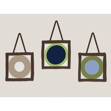 3 Piece Designer Dot Wall Paper Border Hanging Art