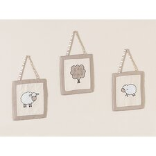 <strong>Sweet Jojo Designs</strong> Lamb Collection Wall Hangings 3 Piece Set