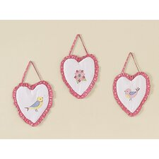 Song Bird Wall Hanging Art (Set of 3)